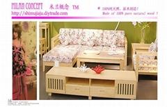 客廳傢具實木沙發