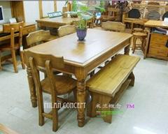 广东家具实木餐桌椅