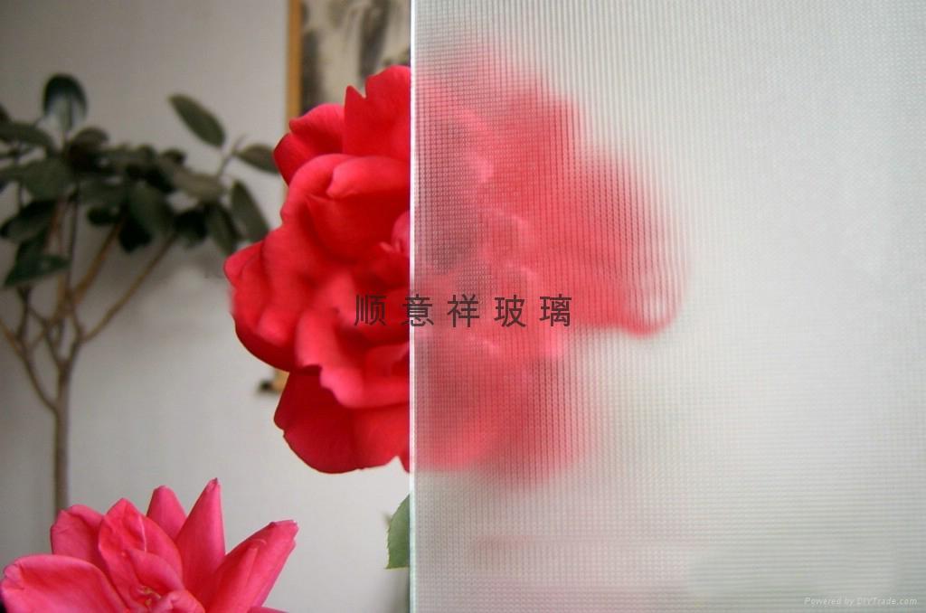 布纹压花玻璃