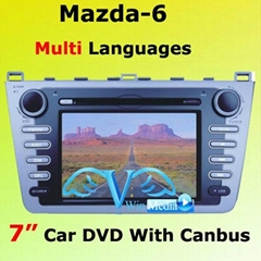 Mazda 6 in Car DVD Player 2012 new model with 2012 free map