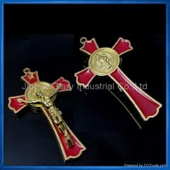 3 inch Gold Tone St.Benedict Crucifix,S.Benedetto Cruxfix,Crocefisso