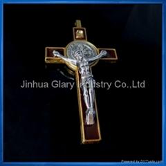 3 inch Gold St. Benedict Crucifix,Cruxfix,Jusus Medal