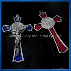3 inch Si  er Tone St.Benedict Crucifix,S.Benedetto Cruxfix