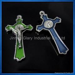 5.5cm Si  er St. Benedict Crucifix,Cruxfix Pendant