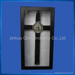Black Window box for 19.5cm St. Benedict's Crucifix