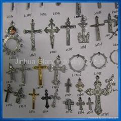 Crucifix pendant,virgin mary pendant,rosary accessory
