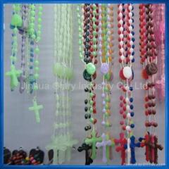 Plastic Luminous Rosary,Rosery,Chapelets