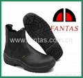 middle cut black steeltoe and plate
