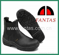 middle cut black steeltoe and plate genuine safety shoes