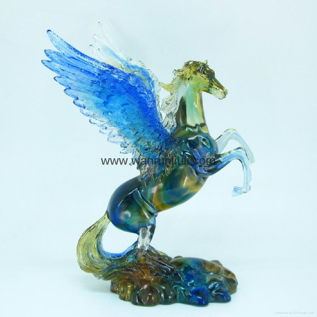 Horse arts and crafts - Crystal Flying Horse 1