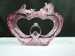 水晶琉璃戒指托-BJ173