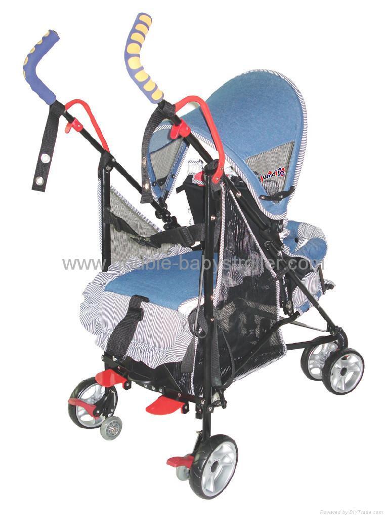 Baby Tandem Buggy Stroller Utb B2b 1c Jb Jumellos