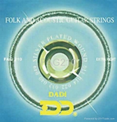 Folk and clssical guitar strings