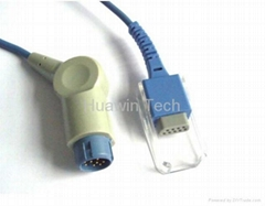 Reusable SpO2 Exstension Cable For HP Philips M1900B 2M