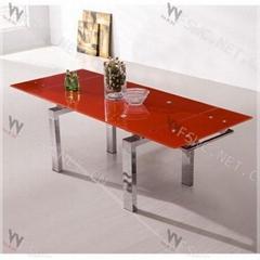 glas-steel Extendable Dining TableWC-BT008