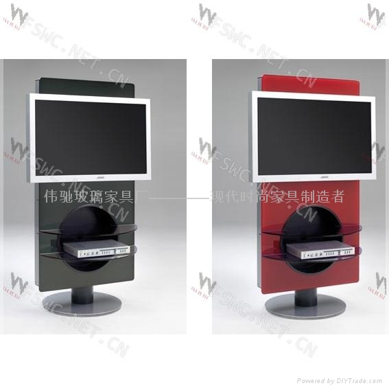 Glas Steel Glass Tv Stand Wc St122 1