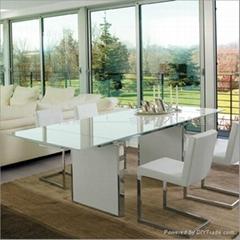 glas-steel现代不锈钢脚多功能餐台WC-BT129