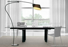 glas-steel dining table WC-BT899