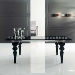 glas-steel 葫芦型玻璃脚多功能餐台WC-BT918