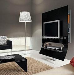 glas-steel現代高檔不鏽鋼玻璃電視架WC-ST053