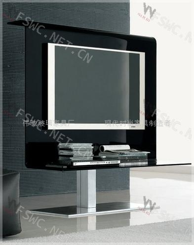 Glas Steel Modern Hot Bending Glass Tv Stand Wc St109
