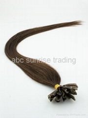 human hair extensions in virgin hair remy hair stick tip hair extension