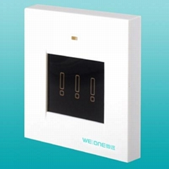 RF 3-way wireless touch screen switch
