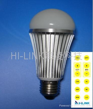 可調色溫調光LED 球泡 1