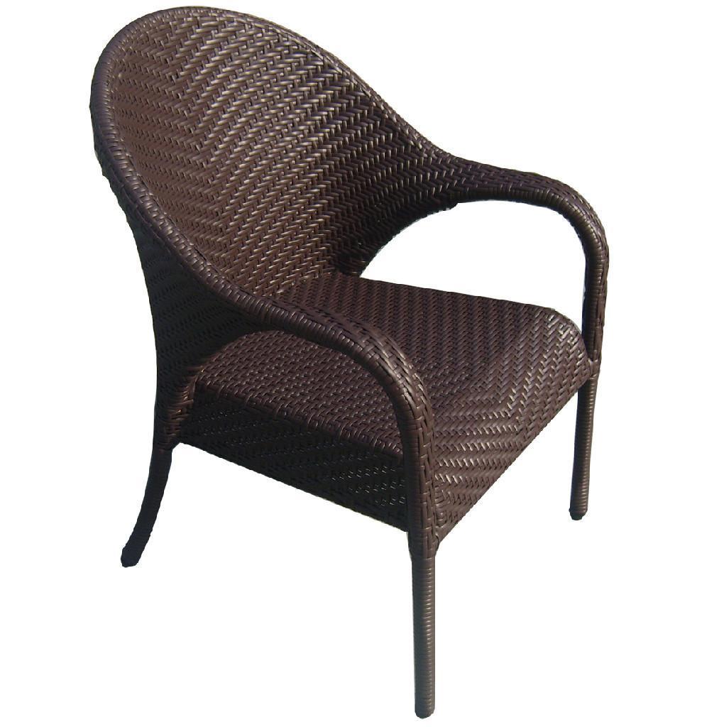 Pe rattan plastic chair outdoor leisure beach chair d053 akando