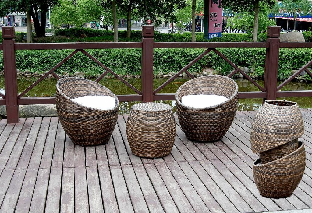 Stackable Rattan Bar Furniture Popular Aluminium Restaurant Furniture T032 Akando China