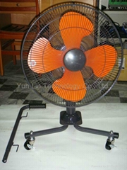 Movable fan - 3 wheels