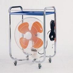 Movable fan - 4 wheels
