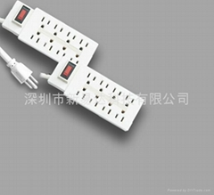 8 outlets UL extension socket