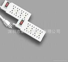 8 outlets UL extension socket