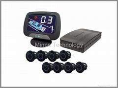 8 sensors Parking Sensors Front&Back LCD Voice&Buzzer