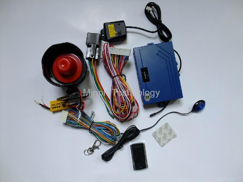 One Way Car Alarm System With Remote Engine Start  Stop