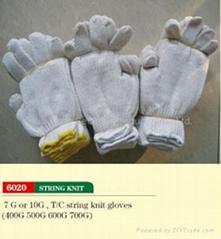 string knit glove
