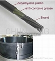 unbonded(HDPE coated) pc strand