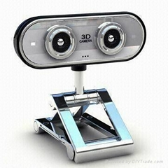 3-D Webcam with Fashionable Metal Plating Frame