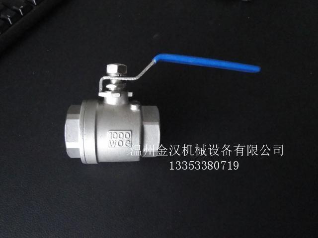 不鏽鋼二片式內螺紋球閥Q11F 1