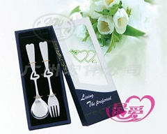 情侣餐具-中节心型叉勺两件套