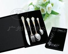 经典系列-高档西餐刀叉勺筷四件套