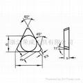 三角形铣刀片