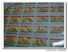hologram sticker / 3D hologram label