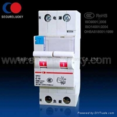 1P+N Residual Current Circuit Breaker with overcurrent protection (RCBO)