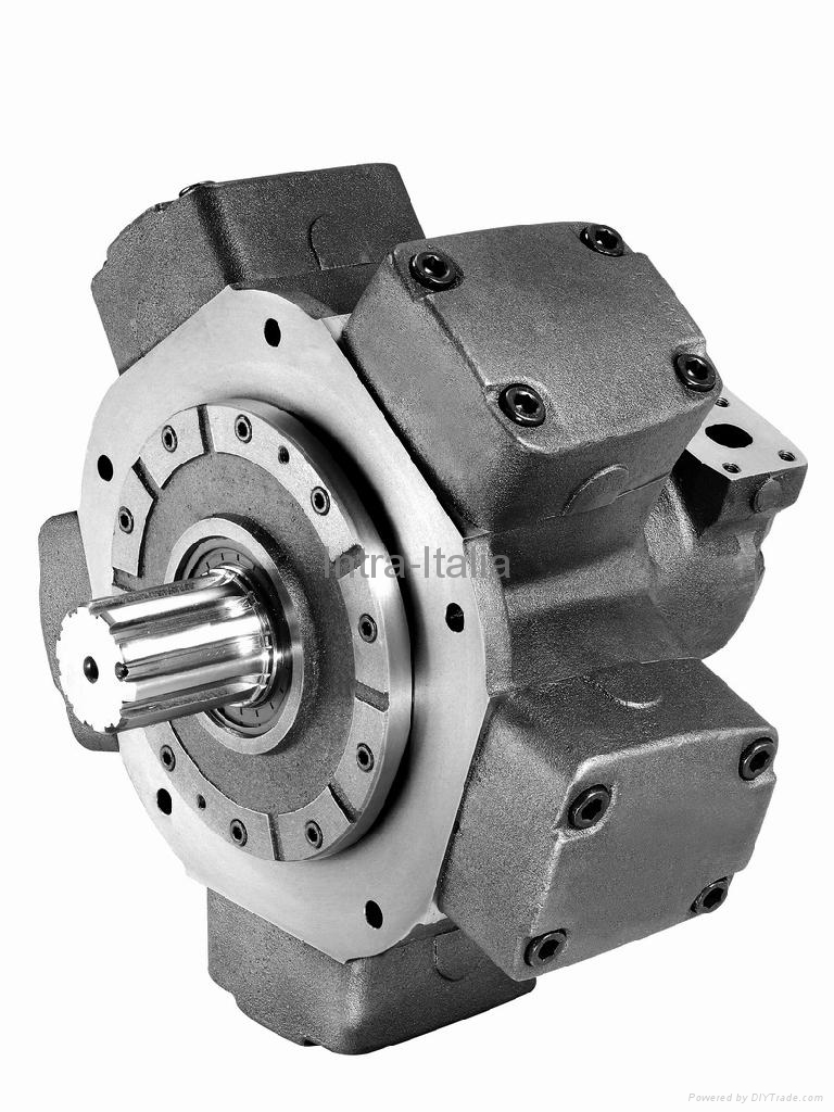 low speed high torque hydraulic motor mrcn series intra