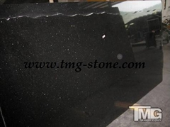 Chinese Black Galaxy Granite Tile & Slab