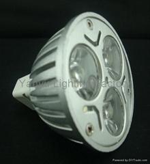 220V GU10 LED Spotlights 3W Aluminium Body