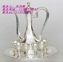 纯银龙凤酒杯厂家1