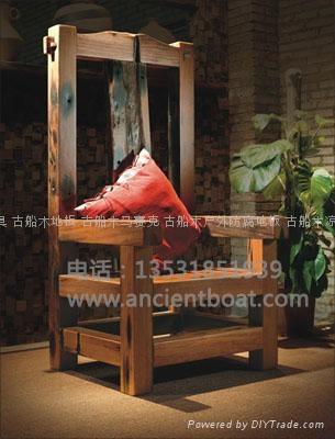 嘉桥古船木家具--椅子 3